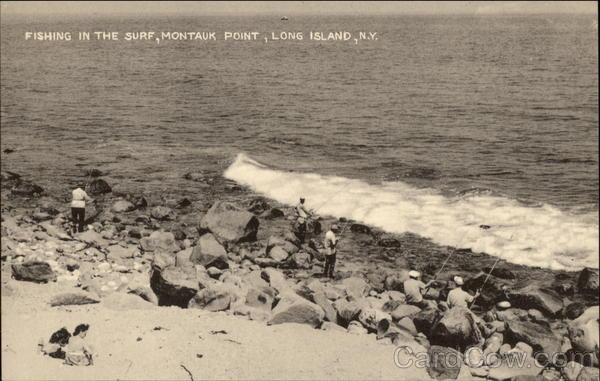 Royalty Free Image Fishing In The Surf Montauk Point