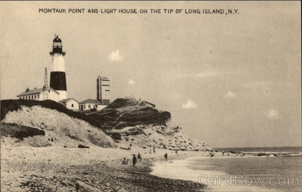 Montauk Point and Light House on the Tip of Long Island, N.Y New York