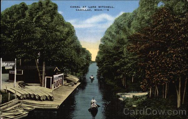 Canal at Lake Mitc Cadillac, MI