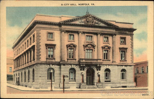 City Hall Norfolk Virginia First Day Issue Cards