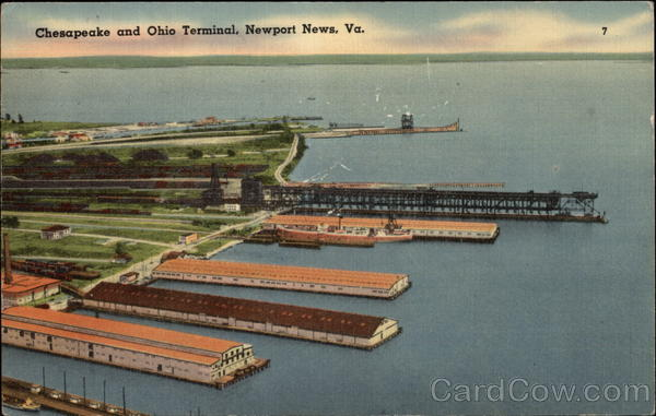 Chesapeake and Ohio Terminal Newport News Virginia