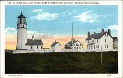 Cape Blanco Light House - Oregon Coast HIghway Postcard