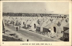 A Section of Tent Row
