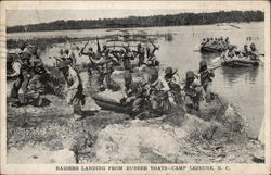 Raiders Landing from Rubber Boats