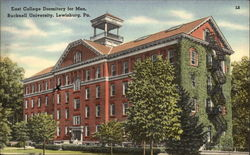 Bucknell University - East College Dormitory for Men Postcard