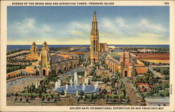 Avenue of the Seven Seas and Exposition Tower - Treasure Island