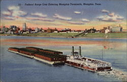 Federal Barge Line Entering Memphis Terminals
