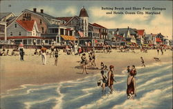 Bathing Beach and Shore Front Cottages and Hotels