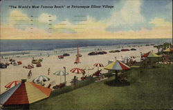 The World's Most Famous Beach, Ellinor Village Postcard