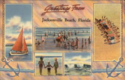 Greetings From Jacksonville Beach, Florida Postcard