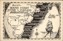 Map of the Maine Coast