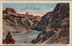 The Colorado River at Foot of Bright Angel Trail