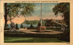 Shotwell Memorial Park Looking Out at Skaneateles Lake Postcard