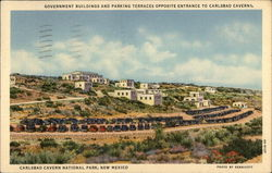 Government Buildings and Parking Terraces Opposite Entrance to Carlsbad Caverns