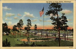Old Glory at Camp Shelby, Mississippi Postcard
