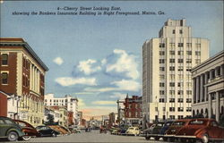 Cherry Street Looking East, showing the Bankers Insurance Building in Right Foreground