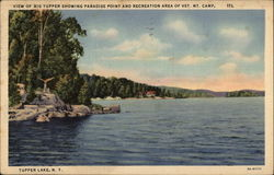 View of Big Tupper Showing Paradise Point and Recreation Area of Vet. Mt. Camp
