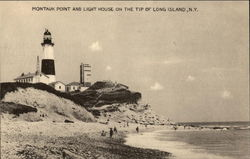Montauk Point and Light House on the Tip of Long Island, N.Y