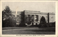 North Carolina State College - Ricks Hall