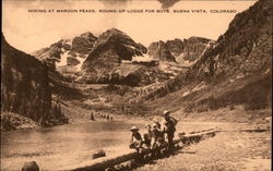 Hiking at Maroon Peaks, Round-Up Lodge for Boys
