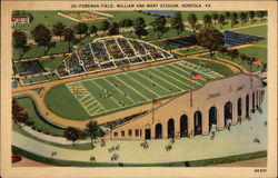 Foreman Field, Willaim and Mary Stadium Postcard