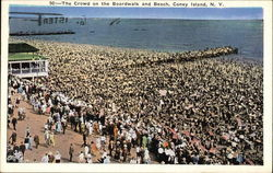 The Crowd on the Boardwalk and Beach