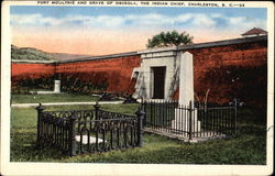 Fort Moultrie and Grave of Osceola, The Indian Chief