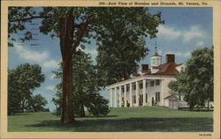 East View of Mansion and Grounds