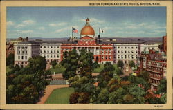 Boston Common and State House