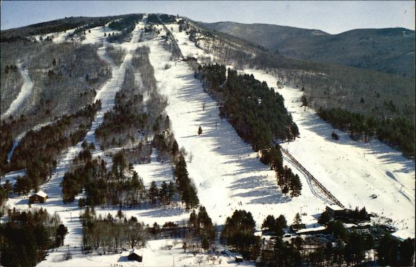 Aerial view Mt. Cranmore and Skimobile North Conway New Hampshire