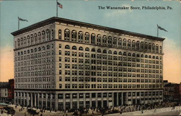 View of the Wanamaker Store Philadelphia Pennsylvania