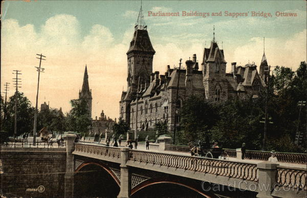 Parliament Buildings and Sappers' Bridge Ottawa Canada