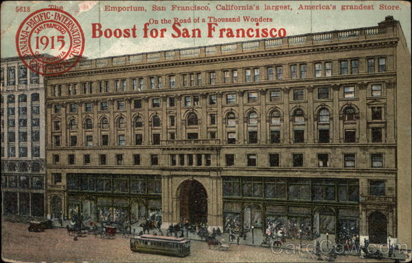 Emporium San Francisco California 1915 Panama-Pacific Exposition