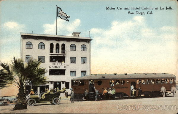 Motor Car and Hotel Cabrillo at La Jolla San Diego California