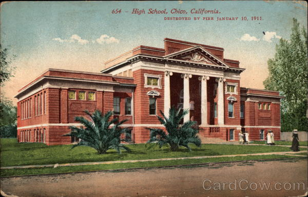 High School, Destroyed by Fire on January 10, 1911 Chico California
