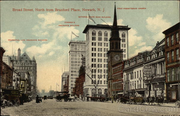 Broad Street, North from Branford Place Newark New Jersey