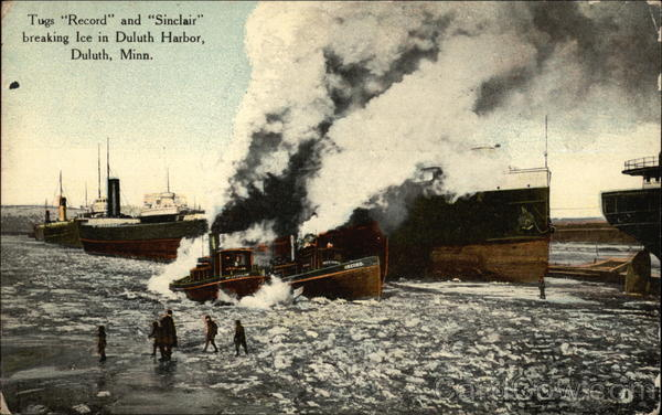 Tugs Record and Sinclair Duluth Minnesota
