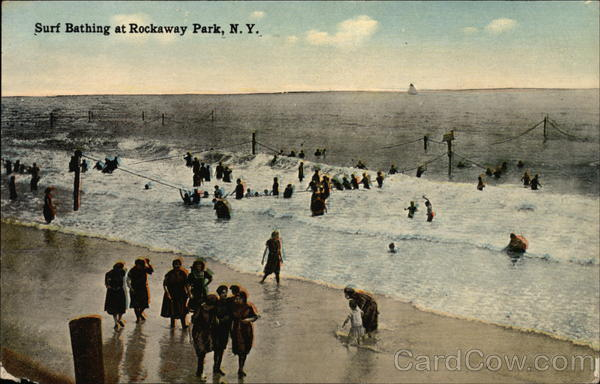 Surf Bathing at Rockaway Park New York
