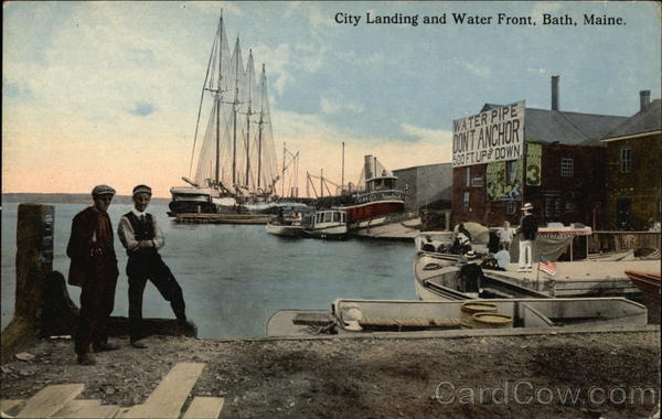 City Landing and Water Front Bath Maine