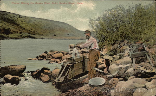 Placer Mining for Snake River Gold Idaho