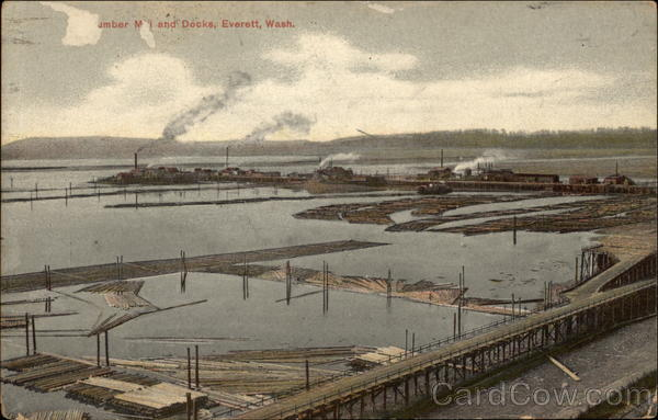 Lumber Mill and Docks Everett Washington