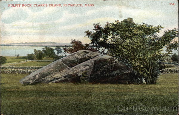 Pulpit Rock, Clark's Island Plymouth Massachusetts