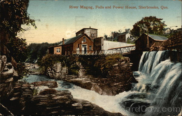 River Magog, Falls and Power House Sherbrooke Canada