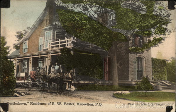 Nestledown, Residence of S.W. Foster Knowlton Canada