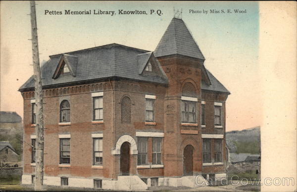 Pettes Memorial Library Knowlton Canada Quebec