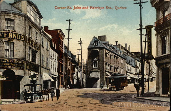 Corner St. John and Fabrique Sts Quebec Canada