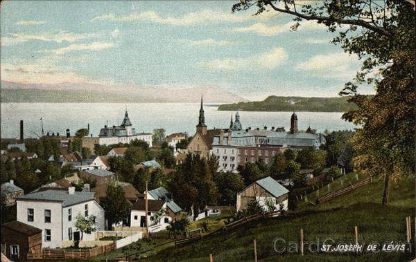 General View of St. Joseph de Levis Canada Quebec