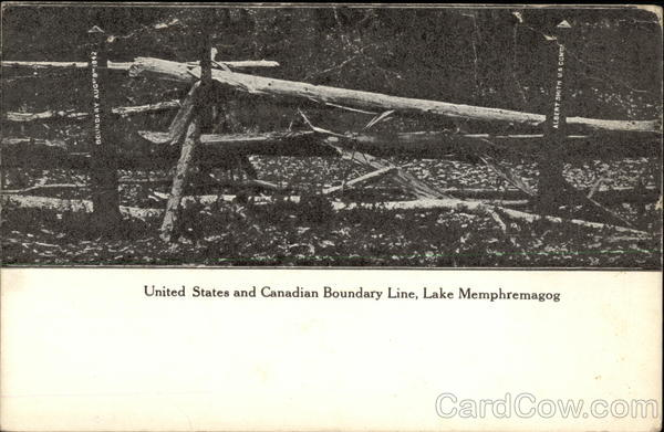 US and Canadian Boundary Line Lake Memphremagog Canada