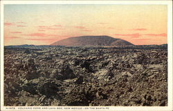 Volcanic Cone and Lava Bed, New Mexico - on the Santa Fe