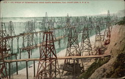 Oil Wells at Summerland Near Santa Barbara, Cal. Coast Line, S.P.R.R
